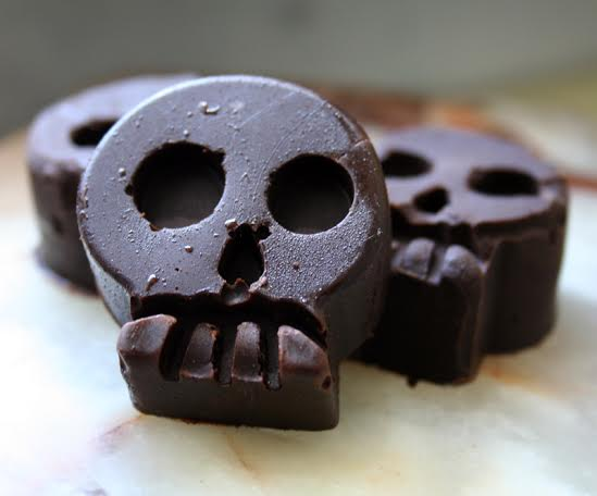 black velvet raw chocolate superfood skulls